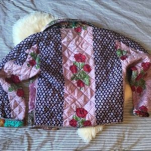 Vintage silk patchwork jacket